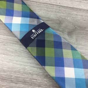 Stafford Blue and Green Pattern Tie
